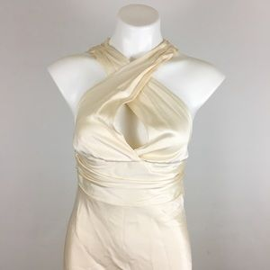 Nicole Miller halter top Wedding dress Alter read